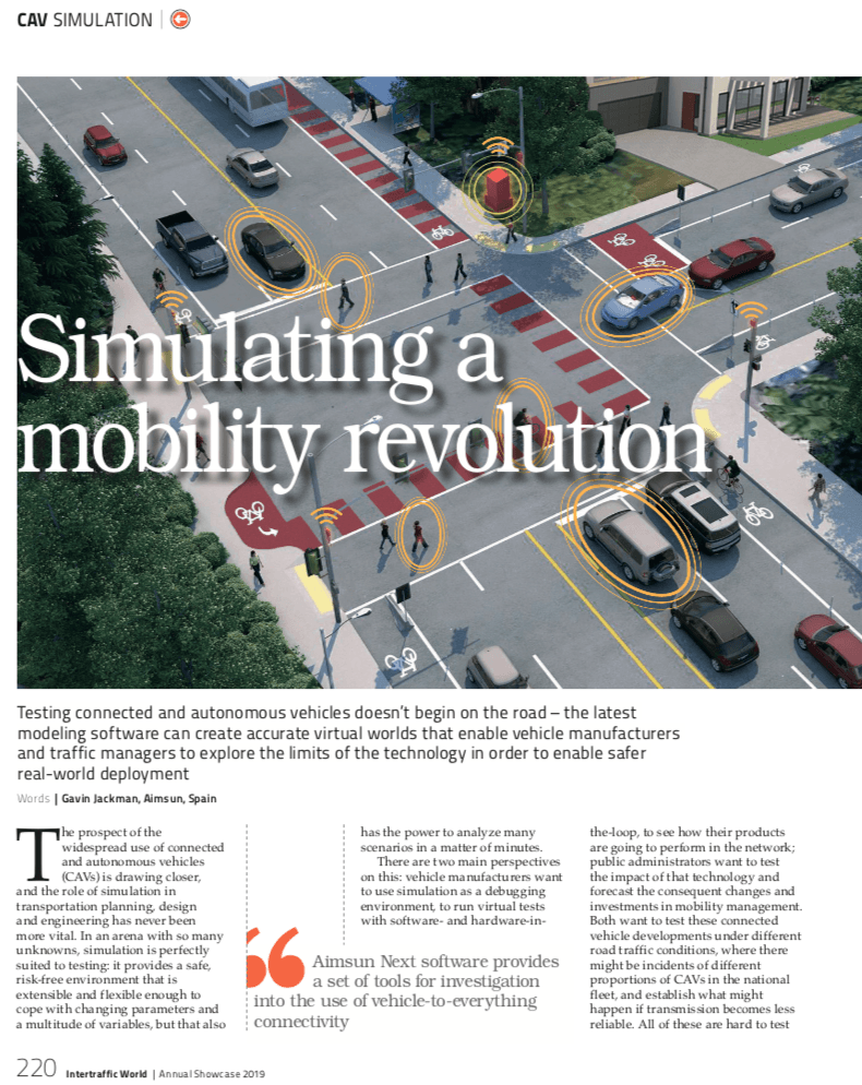 Simulating a mobility revolution: Connected and autonomous vehicles
