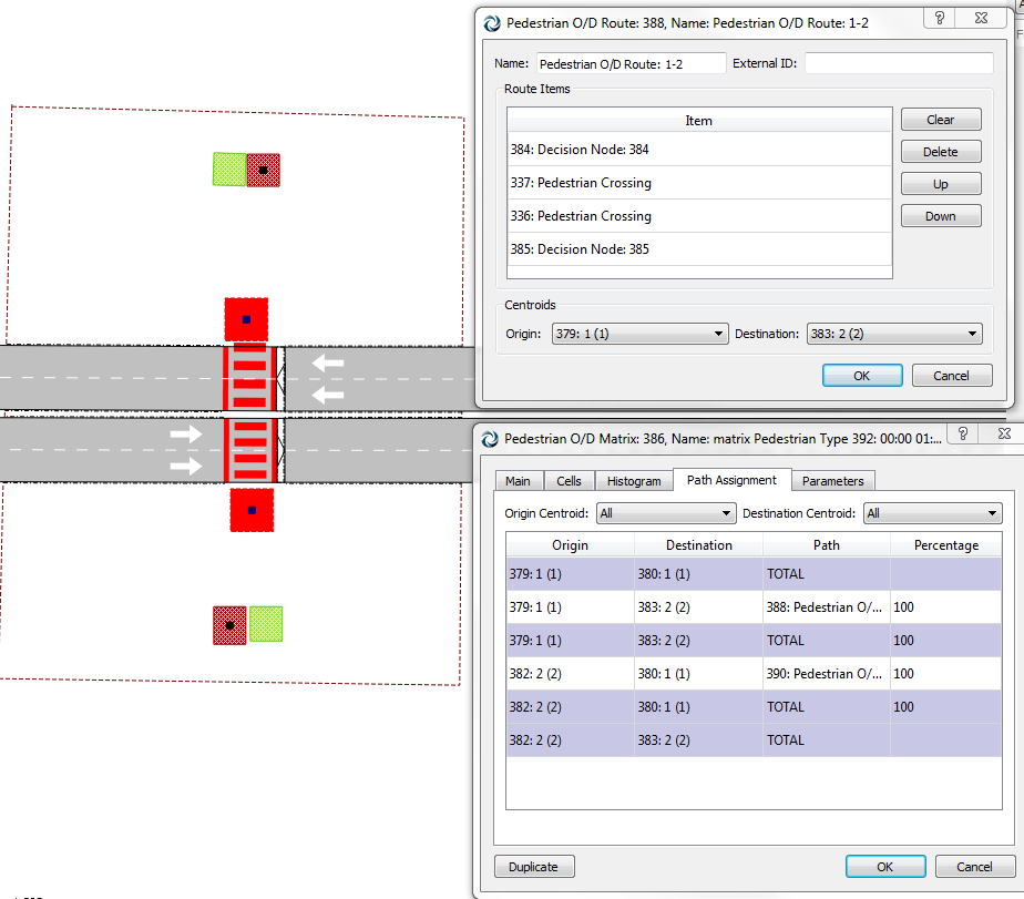 Setting a Use Percentage in the matrix Aimsun traffic modelling software