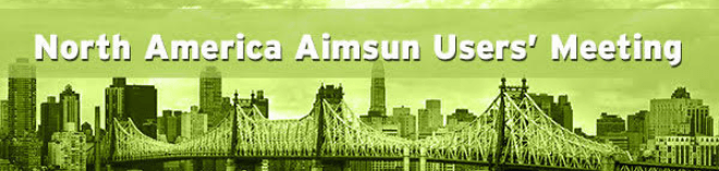 North American Aimsun Users' Meeting 2016, Long Island City, NY