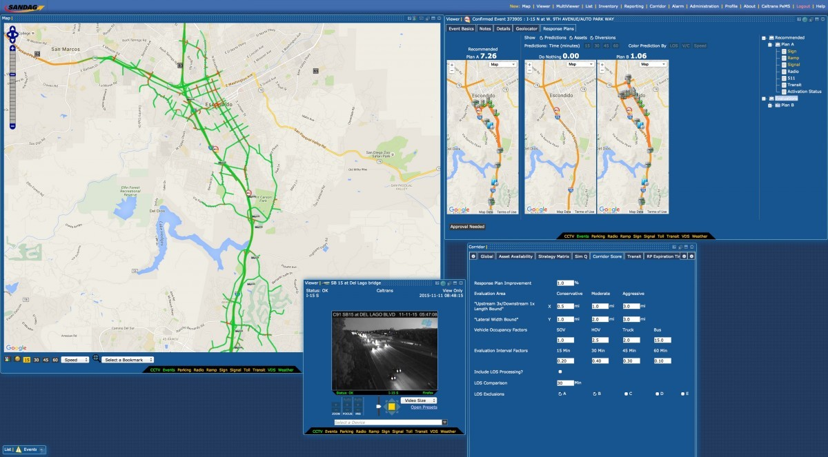 Aimsun Online simulation based decision support system for real-time traffic management