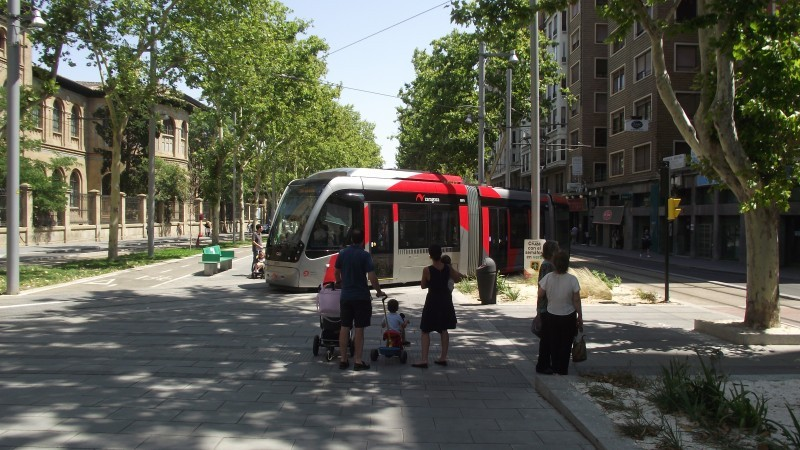The impact of a new tramway on Zaragoza's road network