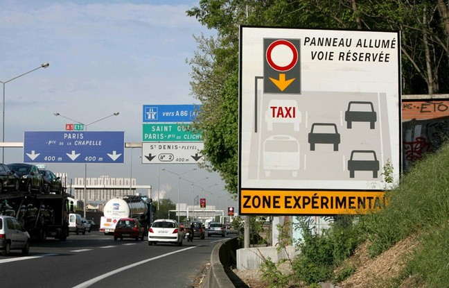 Paris A1 motorway - road sharing simulation study