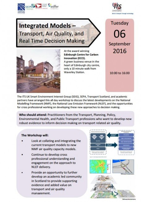 Workshop: Integrated Models - Transport, Air Quality, and Real-Time Decision Making, Edinburgh