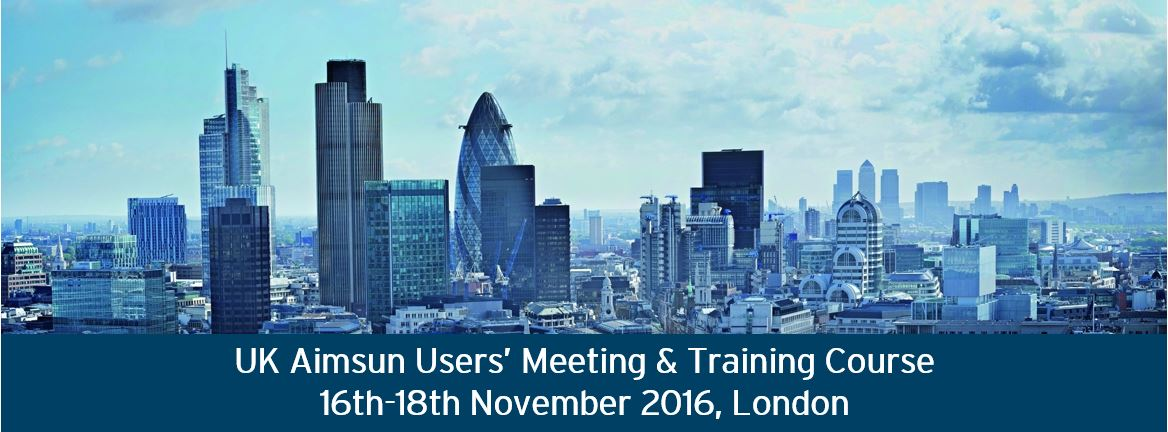 16-18 November 2016, UK Aimsun Users' Meeting and training course