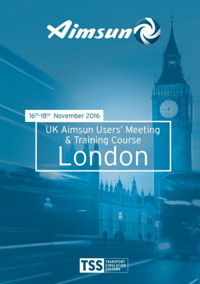 Final programme of events for the UK Aimsun Users' Meeting, London 2016