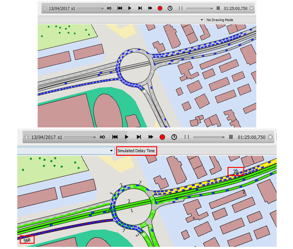 Traffic Management Actions in Aimsun traffic modelling transport planning software