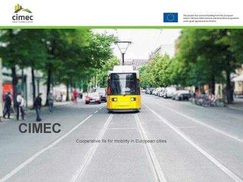 TSS brings Aimsun traffic modelling software to CIMEC Final Conference for Cooperative ITS for mobility in European cities