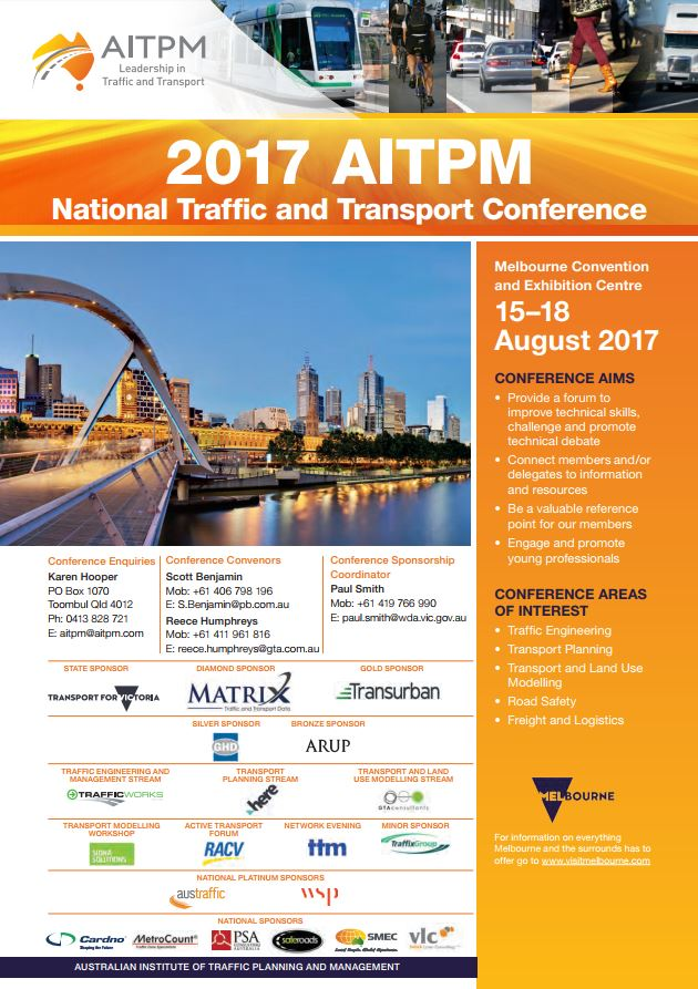 Aimsun at AITPM National Traffic and Transport Conference, Melbourne