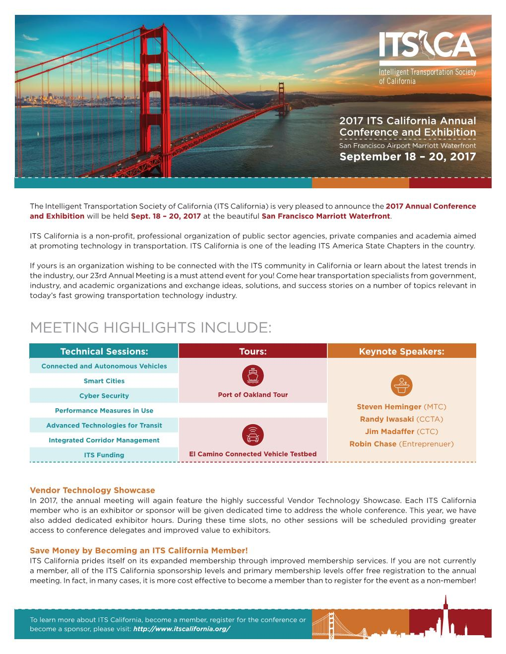 Aimsun Gold Sponsors at ITS California Annual Conference and Exhibition in San Francisco