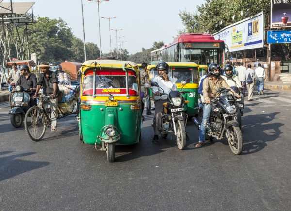 The National Capital Territory of Delhi incorporates a wide mix of types of traffic, from trucks to cars, two-wheelers, autorickshaws and cycle rickshaws