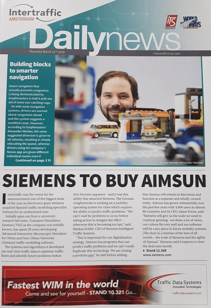 Siemens to buy Aimsun