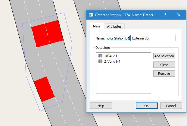 Aimsun 8.3: Detector Station Editor