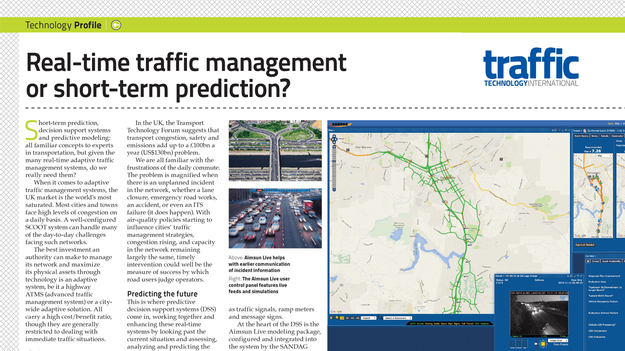 Real-time traffic management or short-term prediction?