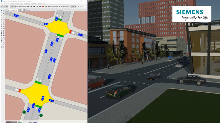First interface between Aimsun software and Simcenter Prescan