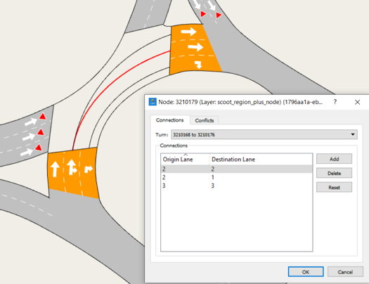 How to code roundabouts in Aimsun Next