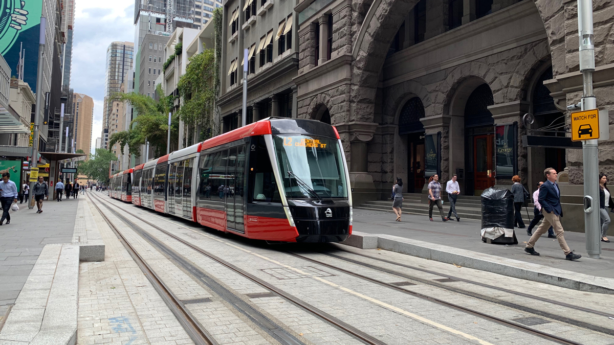 Plans for light rail in the Sydney CBD