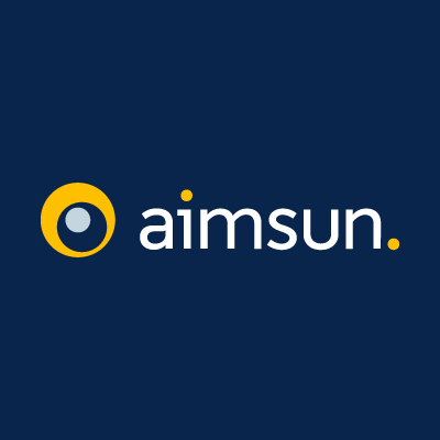 Aimsun Horizontal white logo CMYK