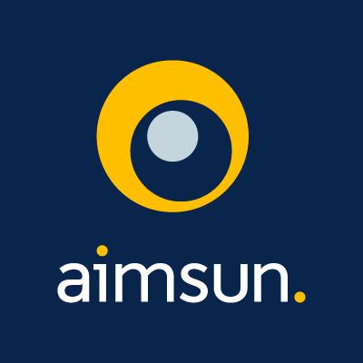 Aimsun Vertical white logo CMYK