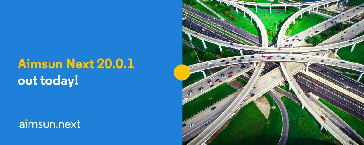 Aimsun Next 20.0.1 ya está disponible para descargar