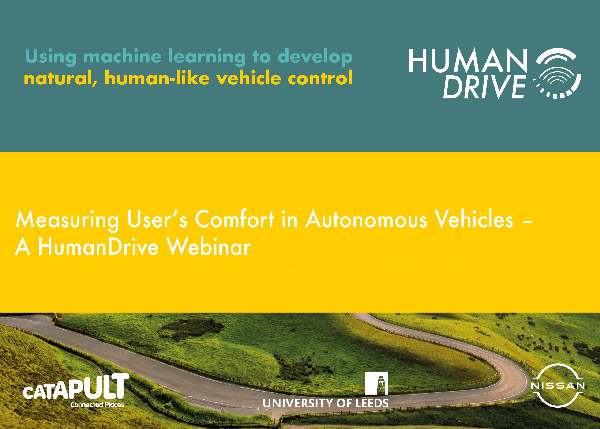 HumanDrive: Measuring User Comfort in Autonomous Vehicles