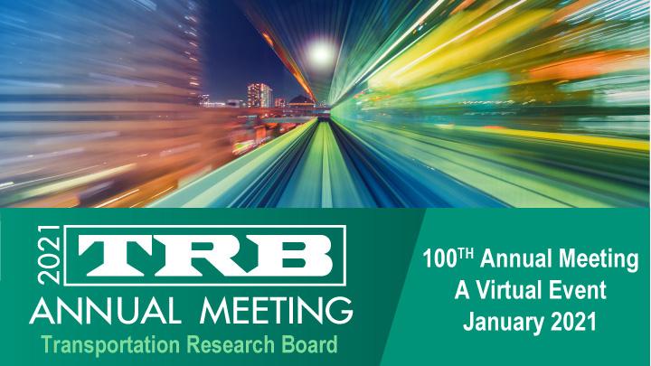 100th TRB Annual Meeting