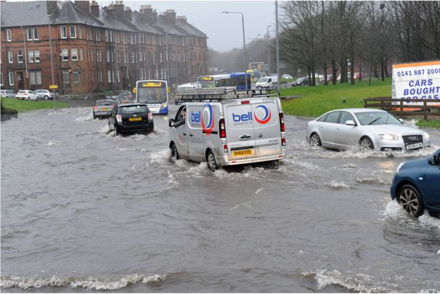 Figure 3: Cars on a flooded road