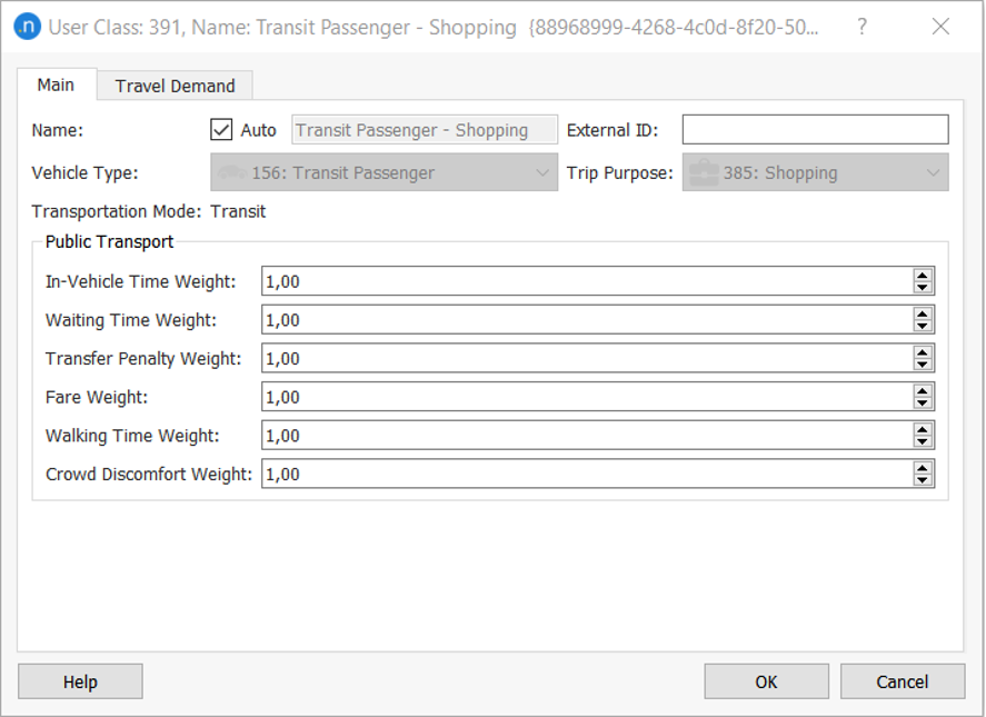 How to define different costs per trip purpose in static models